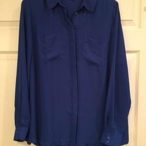 LANE BRYANT Royal Blue Blouse EUC